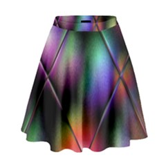 Soft Balls In Color Behind Glass Tile High Waist Skirt