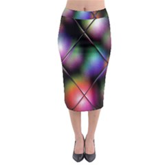 Soft Balls In Color Behind Glass Tile Midi Pencil Skirt