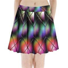 Soft Balls In Color Behind Glass Tile Pleated Mini Skirt