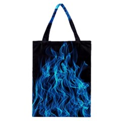 Digitally Created Blue Flames Of Fire Classic Tote Bag