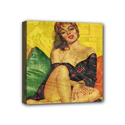 Pin up girl  Mini Canvas 4  x 4