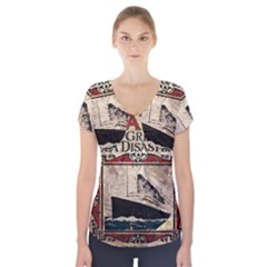 Titanic Short Sleeve Front Detail Top