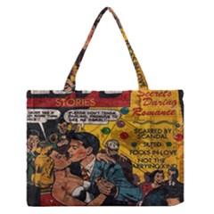 Love stories Medium Zipper Tote Bag