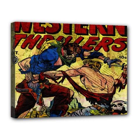 Western Thrillers Canvas 14  x 11