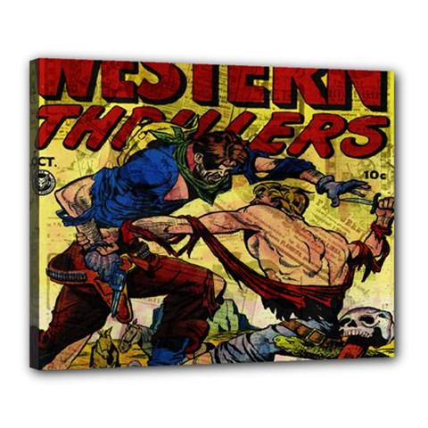 Western Thrillers Canvas 20  x 16