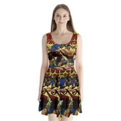 Western Thrillers Split Back Mini Dress