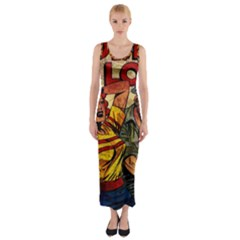 Woman in love Fitted Maxi Dress