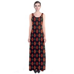 Dollar Sign Graphic Pattern Sleeveless Maxi Dress