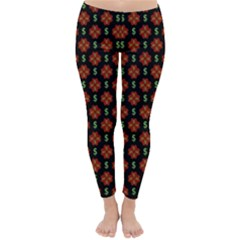 Dollar Sign Graphic Pattern Classic Winter Leggings