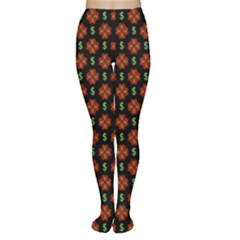 Dollar Sign Graphic Pattern Women s Tights