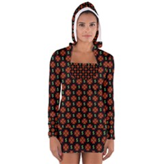 Dollar Sign Graphic Pattern Women s Long Sleeve Hooded T-shirt