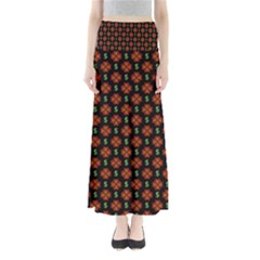Dollar Sign Graphic Pattern Maxi Skirts