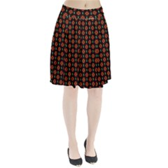Dollar Sign Graphic Pattern Pleated Skirt