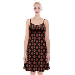 Dollar Sign Graphic Pattern Spaghetti Strap Velvet Dress
