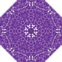 Purple with White Pagan Pentacle Wiccan Folding Umbrella View1