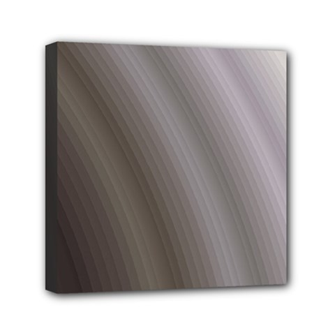 Fractal Background With Grey Ripples Mini Canvas 6  X 6