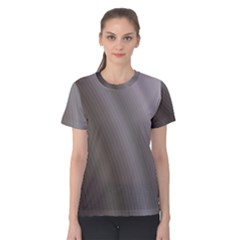 Fractal Background With Grey Ripples Women s Cotton Tee