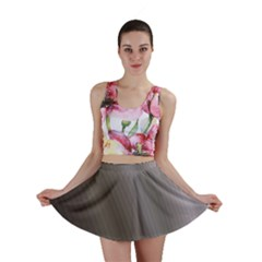 Fractal Background With Grey Ripples Mini Skirt
