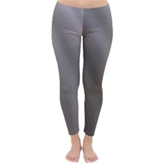 Fractal Background With Grey Ripples Classic Winter Leggings
