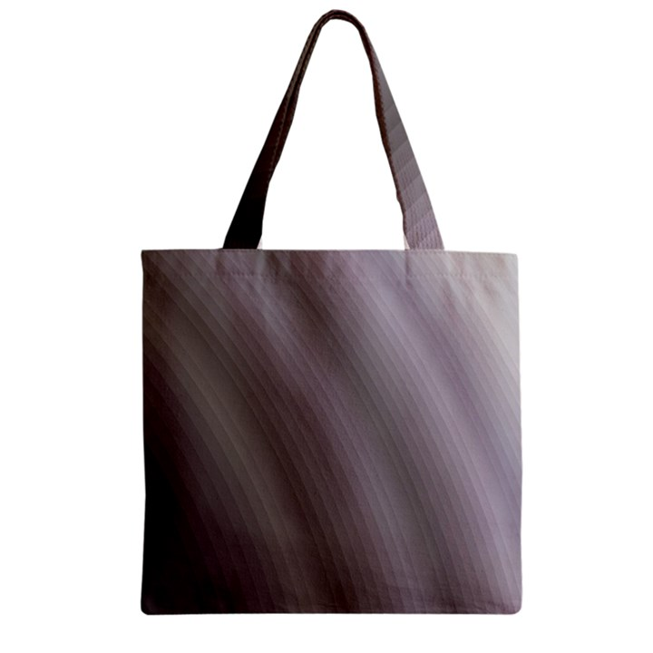 Fractal Background With Grey Ripples Zipper Grocery Tote Bag