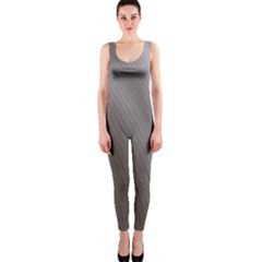 Fractal Background With Grey Ripples OnePiece Catsuit