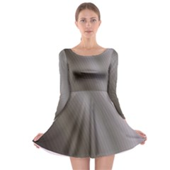 Fractal Background With Grey Ripples Long Sleeve Skater Dress