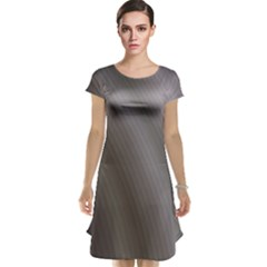 Fractal Background With Grey Ripples Cap Sleeve Nightdress