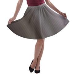 Fractal Background With Grey Ripples A Line Skater Skirt