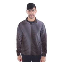 Fractal Background With Grey Ripples Wind Breaker (men)