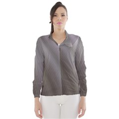 Fractal Background With Grey Ripples Wind Breaker (women)