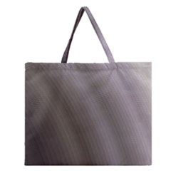 Fractal Background With Grey Ripples Zipper Large Tote Bag