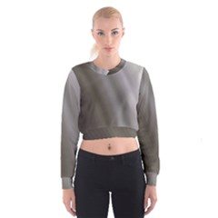 Fractal Background With Grey Ripples Women s Cropped Sweatshirt