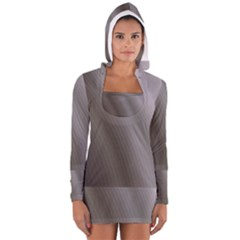 Fractal Background With Grey Ripples Women s Long Sleeve Hooded T Shirt