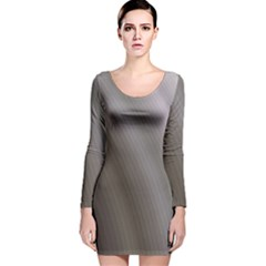 Fractal Background With Grey Ripples Long Sleeve Velvet Bodycon Dress
