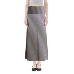 Fractal Background With Grey Ripples Maxi Skirts