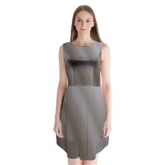 Fractal Background With Grey Ripples Sleeveless Chiffon Dress
