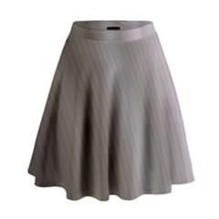 Fractal Background With Grey Ripples High Waist Skirt