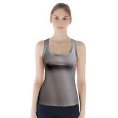 Fractal Background With Grey Ripples Racer Back Sports Top