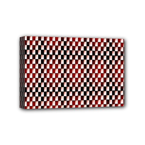 Squares Red Background Mini Canvas 6  X 4