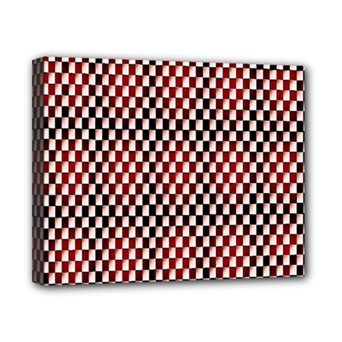 Squares Red Background Canvas 10  X 8