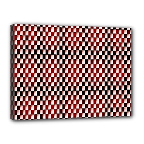Squares Red Background Canvas 16  X 12