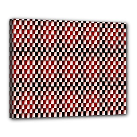 Squares Red Background Canvas 20  X 16