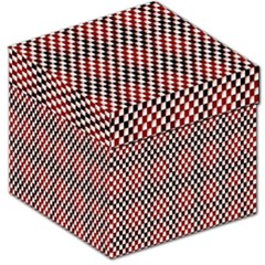 Squares Red Background Storage Stool 12