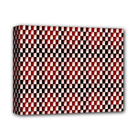 Squares Red Background Deluxe Canvas 14  x 11