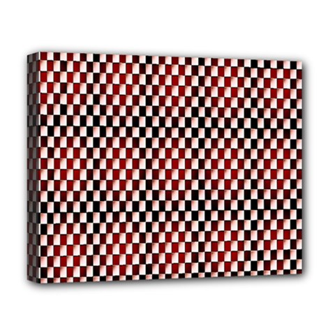Squares Red Background Deluxe Canvas 20  x 16