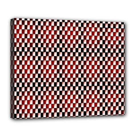 Squares Red Background Deluxe Canvas 24  x 20