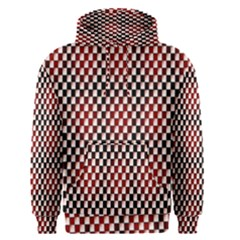 Squares Red Background Men s Pullover Hoodie