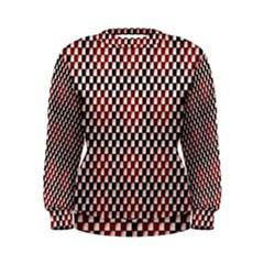 Squares Red Background Women s Sweatshirt