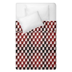 Squares Red Background Duvet Cover Double Side (single Size)