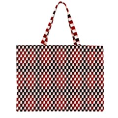 Squares Red Background Large Tote Bag